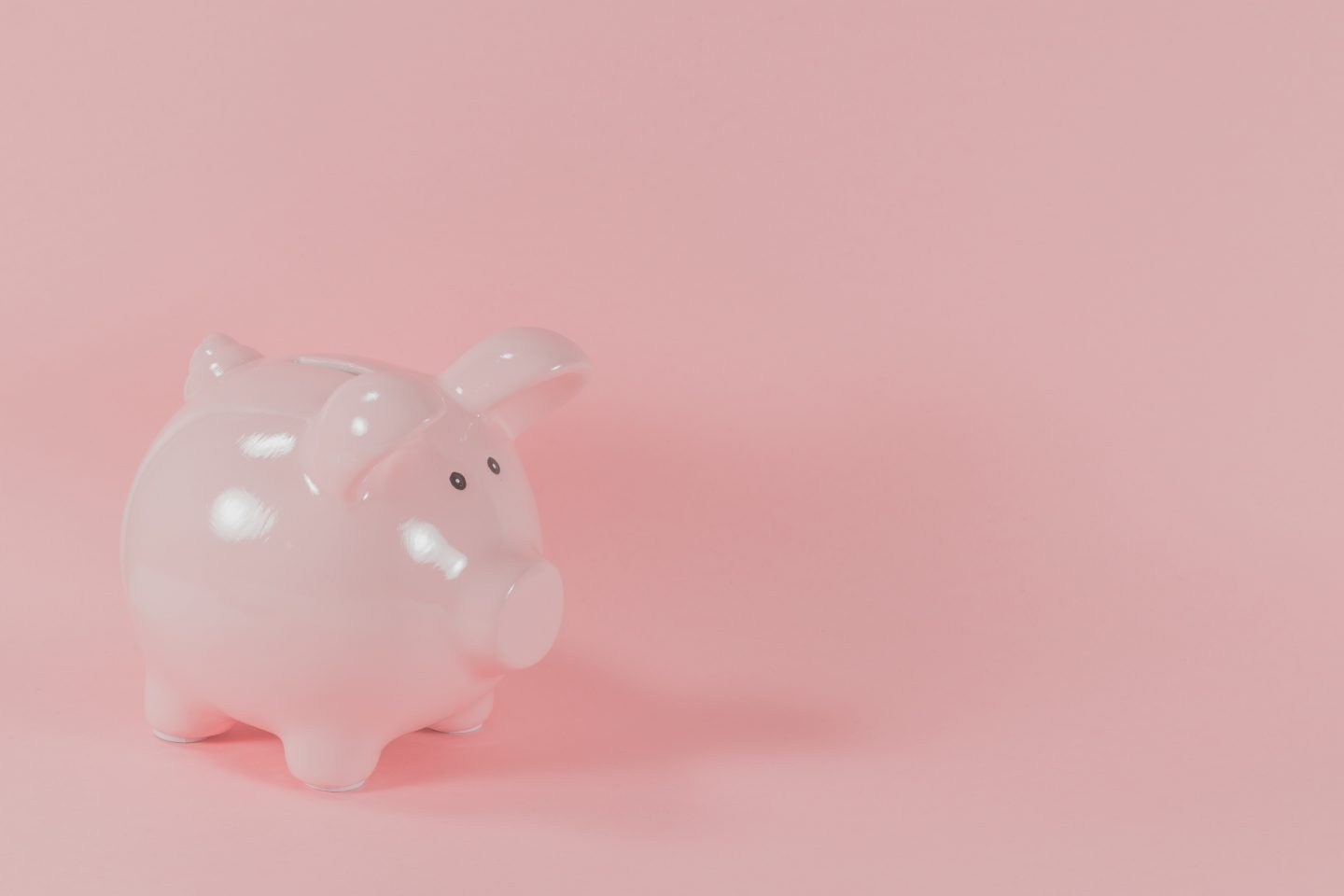 pink ceramic pig coin bank